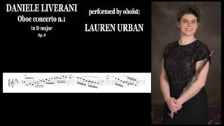 DANIELE LIVERANI - OBOE Concerto n.1 in D major (performed by LAUREN URBAN)