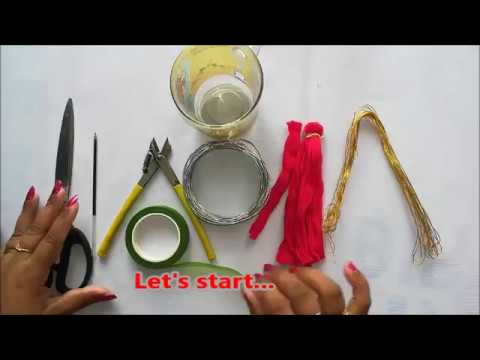 how to make flower with socks cloth.