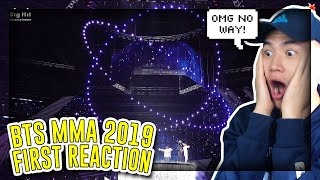 FIRST TIME REACTING TO BTS 2019 MMA FULL LIVE PERFORMANCE!