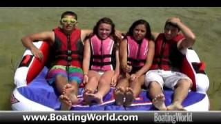 16 New Boat-Towable Tubes Tested And Rated By Boating World Magazine 2011