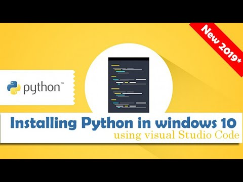 Download Installing Python Using Visual Studio Code In Windows 10