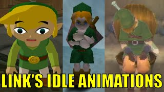 All Link's Idle Animations In The Legend Of Zelda Series (Let's Do Nothing in Zelda Games)