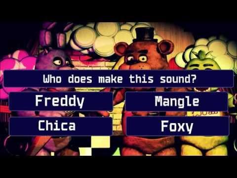 FNAF (Fine Nights At Freddy's) Sound Quiz