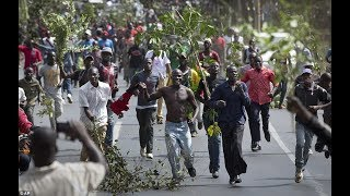 KISUMU: Demonstrators in tug-of-war with police over entry to CBD