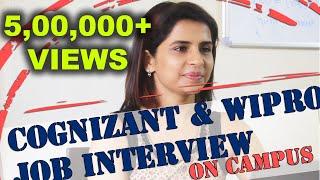 Campus Placement Interviews - Cognizant & Wipro - Manish Raj Srivastav - Sathyabama University