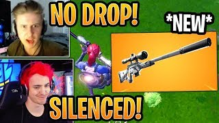 Streamers React to the *NEW* Suppressed Sniper Rifle! (CONFIRMED) - Fortnite Best and Funny Moments