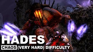 God of War 3 Remastered - Hades | Chaos Difficulty | Best Strategy