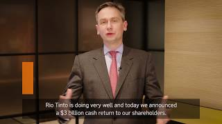 Rio Tinto 2017 half year results | Chief executive J-S Jacques
