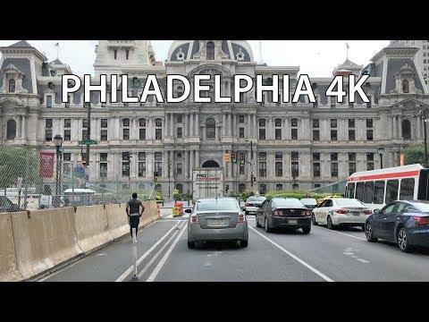 Drive 4K - America's Most Historic Street - Philadelphia USA