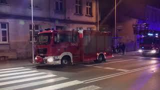 Pożar pustostanu w Kaliszu (woj. Wielkopolskie) 3/12/2017