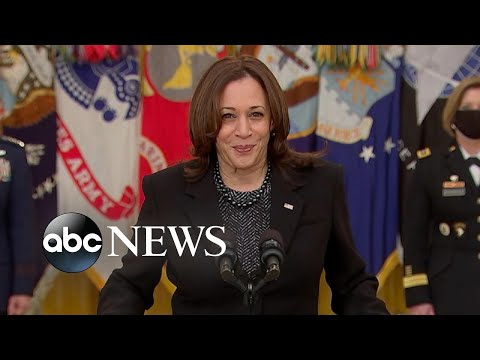 Harris delivers remarks on International Women's Day