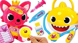 Baby Shark Hospital Play~! Let's heal the injured Pinkfong and Kongsuni! | PinkyPopTOY