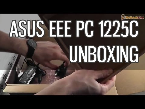 Asus 1225C EEE PC unboxing - Atom powered EEE PC Flare mini laptop