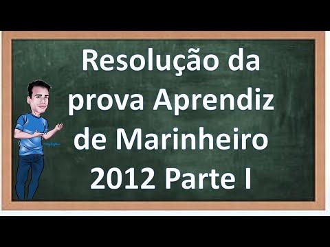 Resolução da Prova Aprendiz de Marinheiro 2012