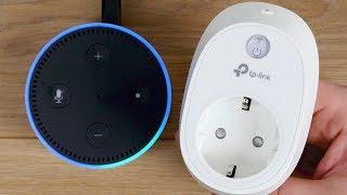 TP-Link WLAN Steckdose HS110 Einrichten & Amazon Echo (Alexa) Integration & verbinden! // DEUTSCH