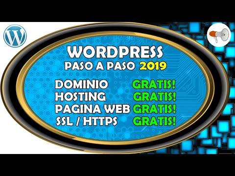 📢 Wordpress #1: Pagina Web GRATIS 2019 Dominio, Hosting, Pagina Web, SSL, curso / tutorial español