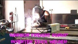 "Harbor Freight ""Arc Welder"" Review-80amp Inverter Stick Welder Review"