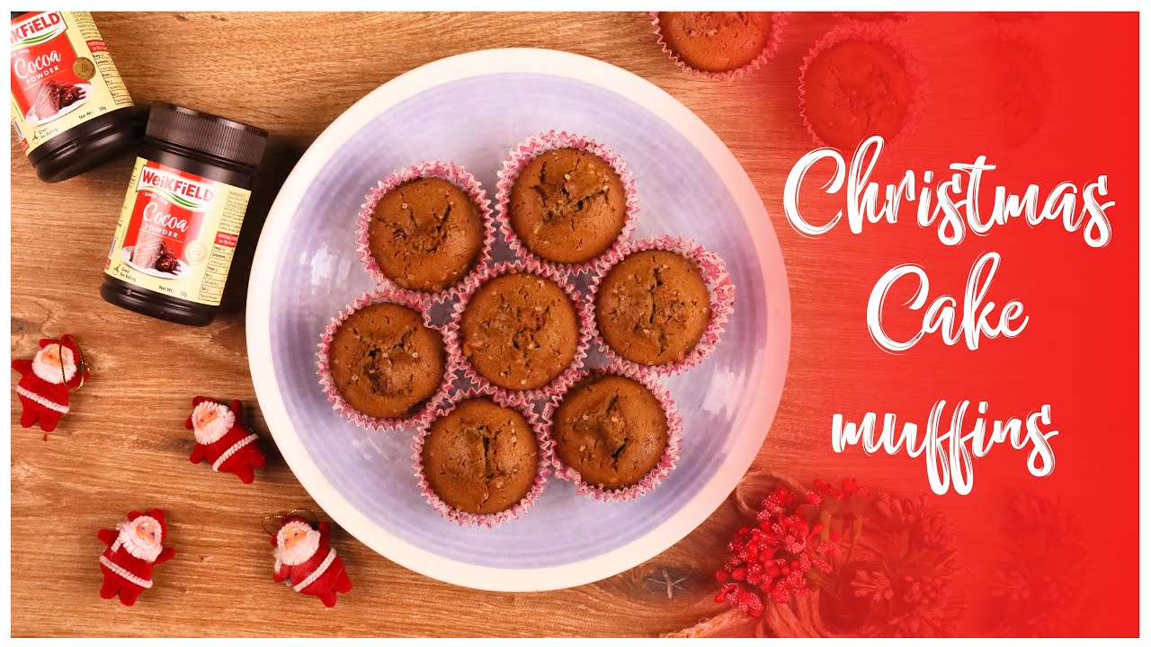 Christmas Cake Muffins Youtube Video
