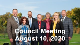 Preview image of City Council Meeting  - August 10, 2020