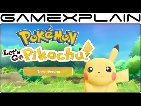 Pokémon Let's Go Pikachu – Demo DIRECT FEED Co-Op Gameplay (Viridian Forest)