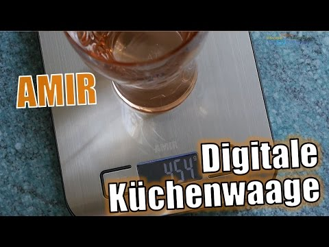 Amir Digitale Küchenwaage - Briefwaage mit Tara-Funktion und LCD Anzeige