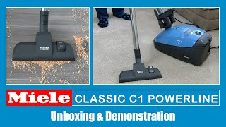 Miele C1 Classic Powerline Cylinder Vacuum Cleaner Unboxing & Demonstration