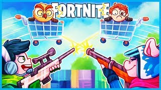 *HILARIOUS* SNIPERS vs SHOPPING CARTS Custom Game in Fortnite: Battle Royale! (Playground Mini Game)