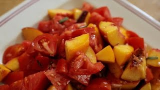 Chef Ian Knauer Recipe – Marmande Tomato and Peach Salad