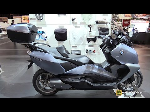2015 BMW C650 GT Maxi Scooter - Walkaround - 2014 EICMA Milan Motorcycle Exhibition
