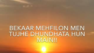 Sadma To Hain Mujhe Bhi Ke Tujh Se ( With Lyrics   - YouTube