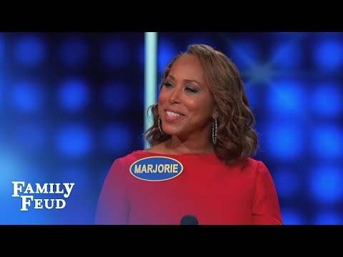 Steve's still SALTY about the POOL BOY... | Celebrity Family Feud