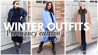 MATERNITY CASUAL WINTER OUTFITS | What to wear in third trimester? Smart Maternity Shopping