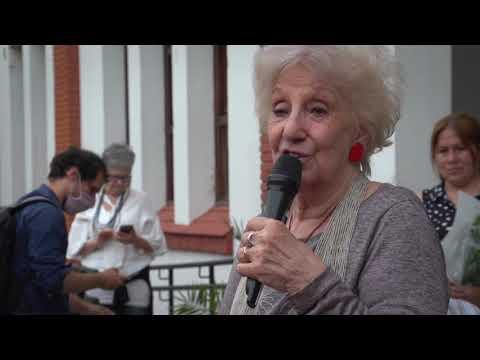 44  Aniversario - Florece identidad - palabras de Estela de Carlotto