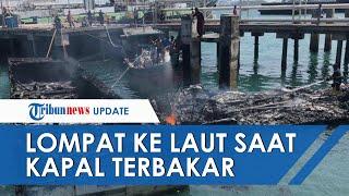 2 ABK Lompat ke Laut saat 4 Kapal Sitaan Bea Cukai Batam Terbakar