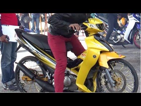 DRAG BIKE 2t 125 150 std body Drag Racing Kubang Menerong Ogos 2018