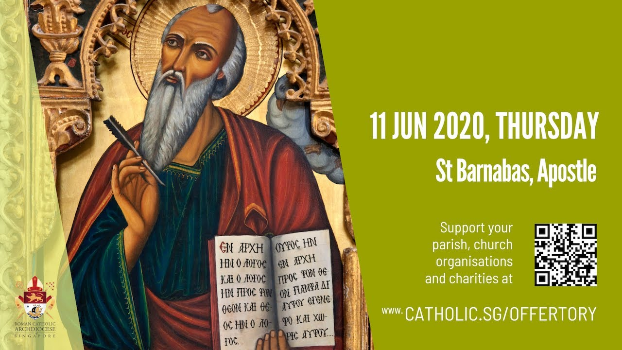 Catholic Weekday Mass Today Online 11th June, Catholic Weekday Mass Today Online 11th June Thursday, St Barnabas, Apostle 2020