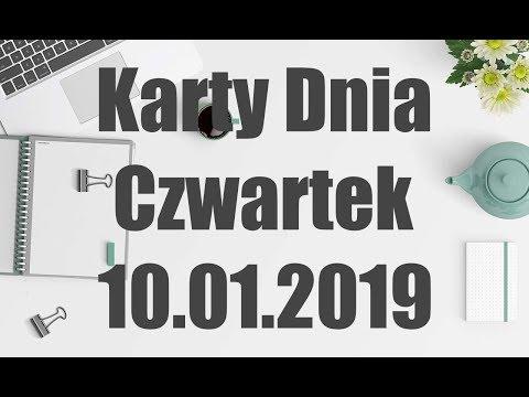 Czwartek Karty Dnia 10.01.2019