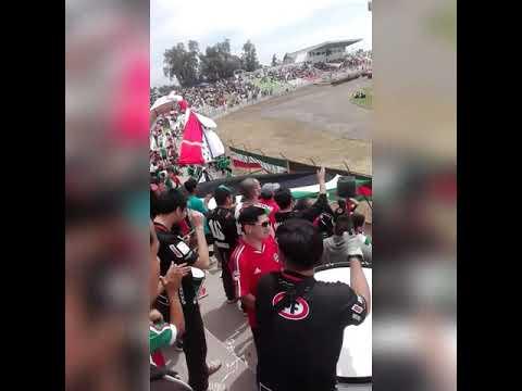 """""""A PASO FIRME NADIE NOS PARA... PALESTINO VS IQUIQUE / LOS BAISANOS / 2018"""" Barra: Los Baisanos • Club: Club Deportivo Palestino"""