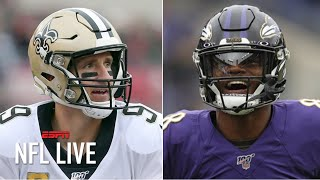I see the greatness of Drew Brees in Lamar Jackson - Mark Ingram to Dianna Russini | NFL Live