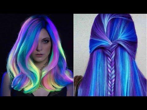 rengarenk saçlar ve teknik çalışmaları