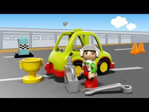 Конструктор Гоночный автомобиль - LEGO DUPLO - фото № 4