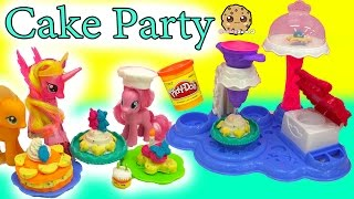 My Little Pony Pinkie Pie Makes Treats for MLP with Cake Party Playdoh Maker Playset