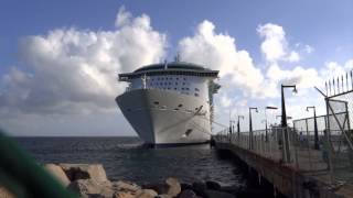 preview picture of video 'Basseterre, St. Kitts - Independence of the Seas at Port Zante HD (2013)'