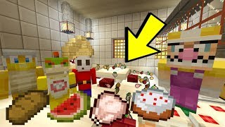 BOWSER JR'S FOOD FIGHT! [BIG MESS!] - Super Nintendo School - (Minecraft Switch) [35]