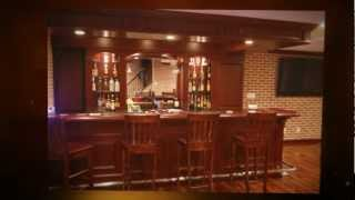 Basement Pub Bar - Design, Build And Installed By David Ramsay Cabinetmakers, Inc
