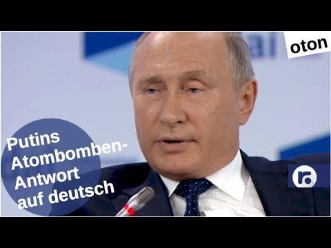 Putins Atombomben-Antwort auf deutsch [Video]