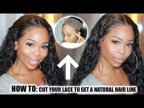 Mother Big Sale| How to: Cut your lace PROPERLY and MAP out HAIRLINE(Curly Wig) FT. BEST HAIR BUY