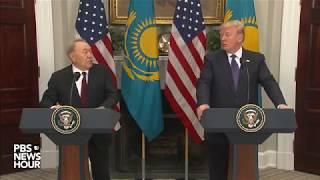 WATCH: President Trump, Kazakh president deliver joint statement