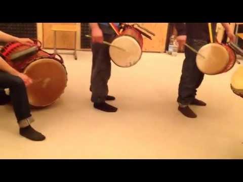 Dunduns Guinea - Basstrommeln Kenkeni Sangban Dundunba - Nähtechnik