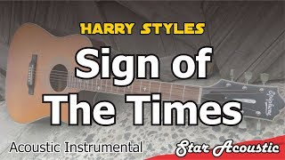 Harry Styles   Sign Of The Times (Acoustic Cover With Chords & Lyrics)